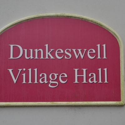 Village Hall name sign