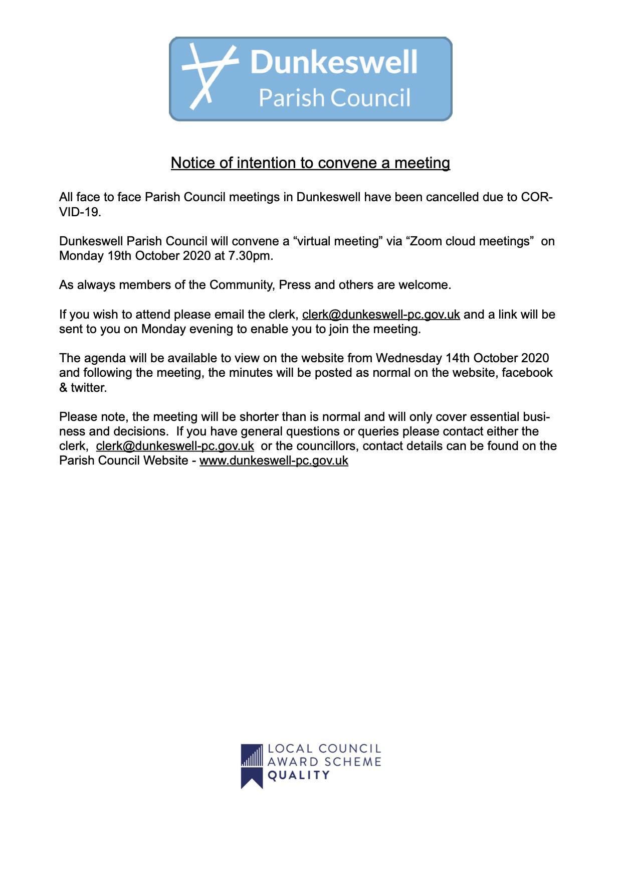 Meeting Notice Eddc October 2020