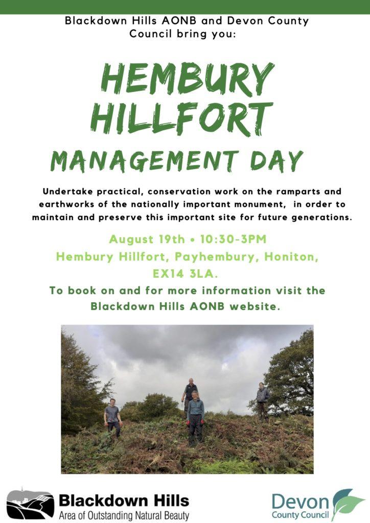 Hembury Hillfort Poster Aug 2021